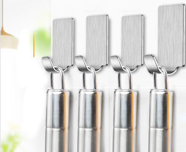 Adhesive Wall Hooks Stainless Steel Waterproof