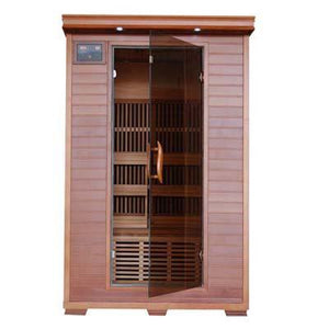 Pure Heat 2 Person Cedar Carbon Sauna