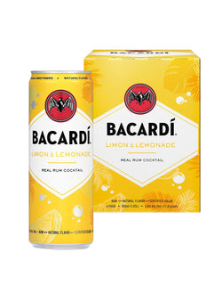 BACARDÍ Limon and Lemonade Cocktail (4 Pack)