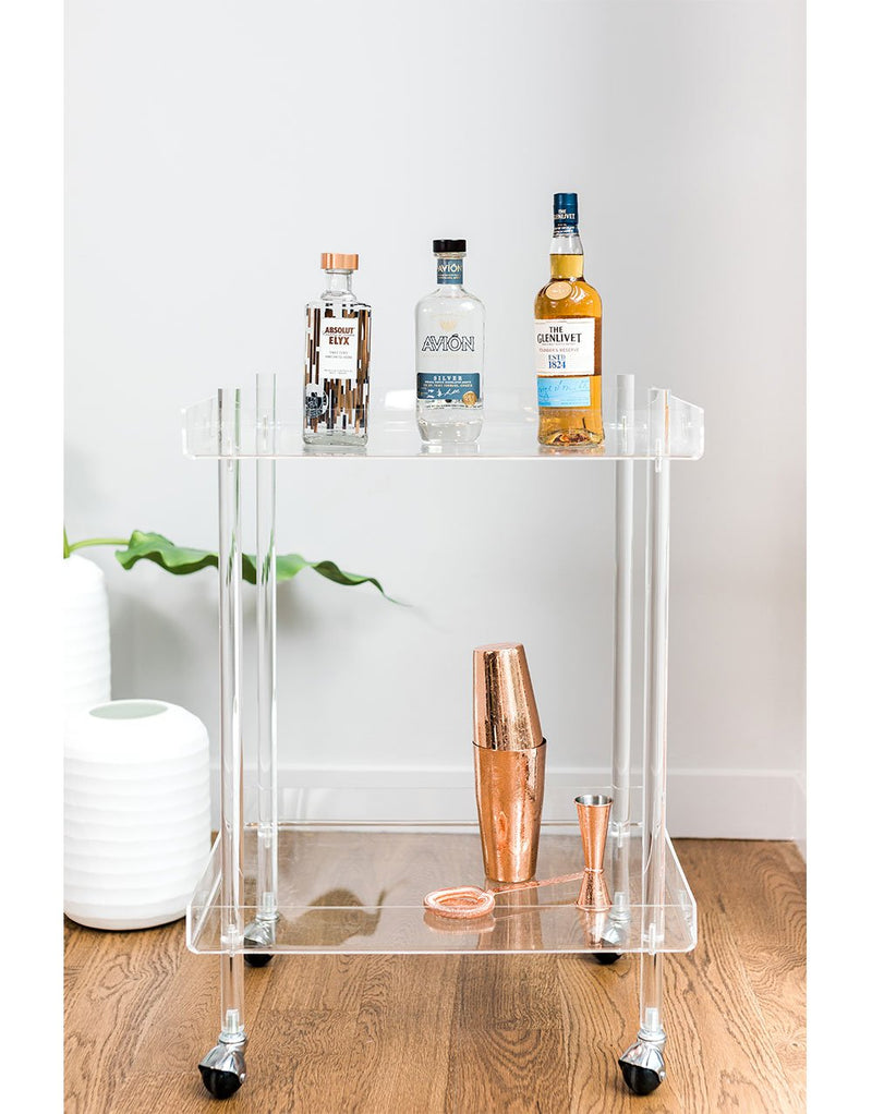 Pernod Ricard Acrylic Bar Cart