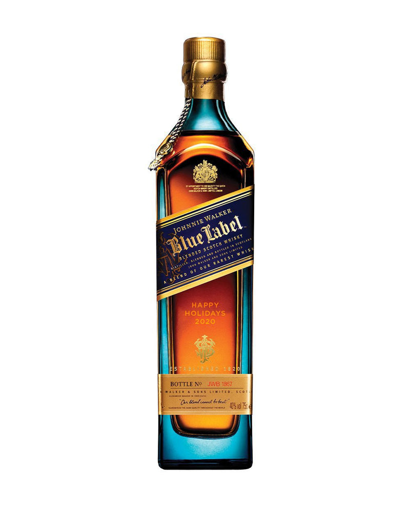 "Limited Edition Johnnie Walker Blue Label pre-engraved with ""Happy Holidays 2020"""