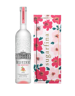 Belvedere Pink Grapefruit with Sugarfina Floral 3pc Candy Bento Box®