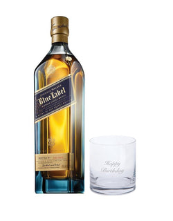 "Johnnie Walker Blue Label® with Dartington ""Happy Birthday"" Just for You Tumbler"