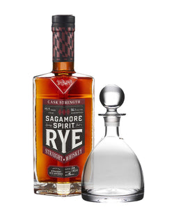 Sagamore Spirit Cask Strength Rye Whiskey with Simon Pearce Rye Glass Decanter