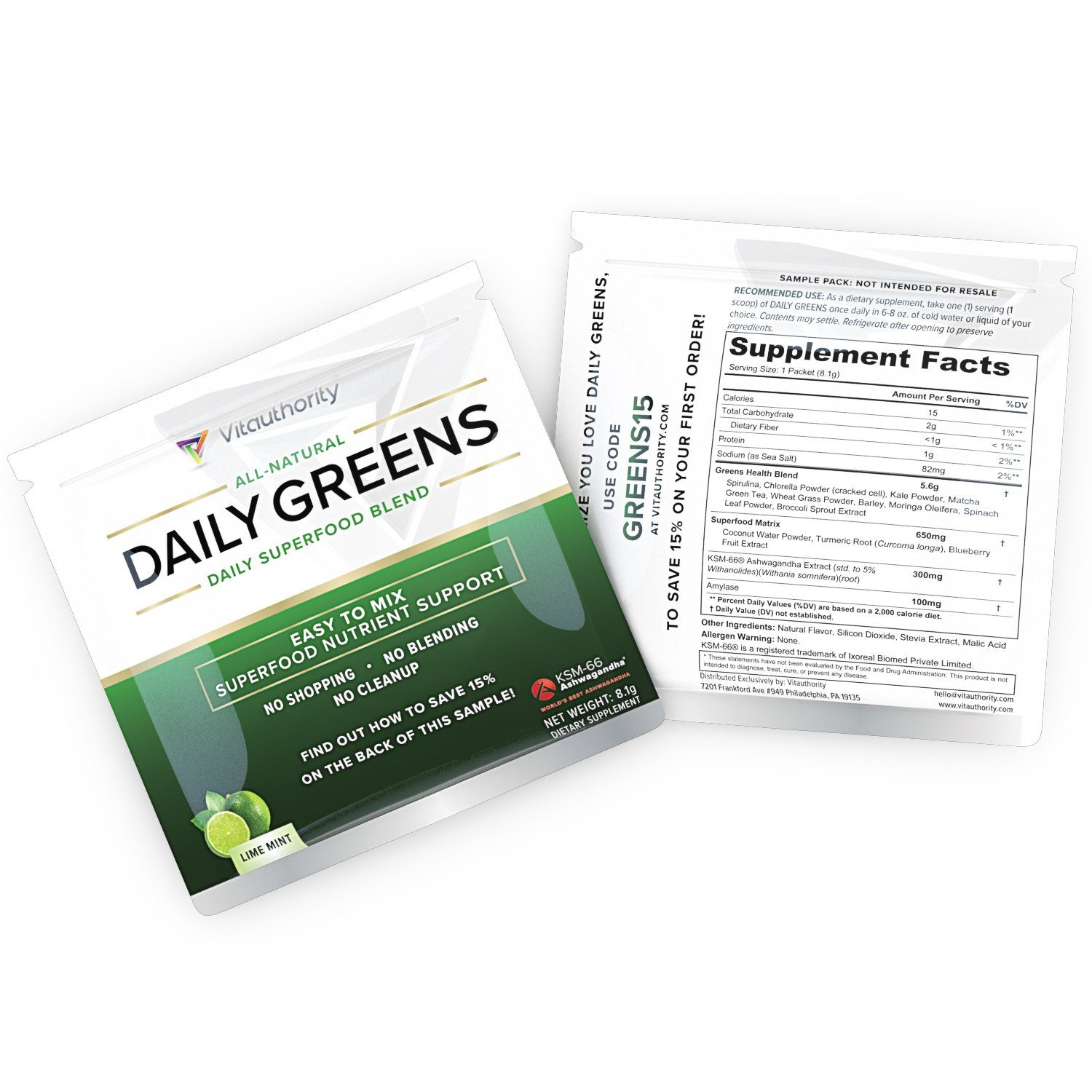 DAILY GREENS SAMPLE (2 Pack)