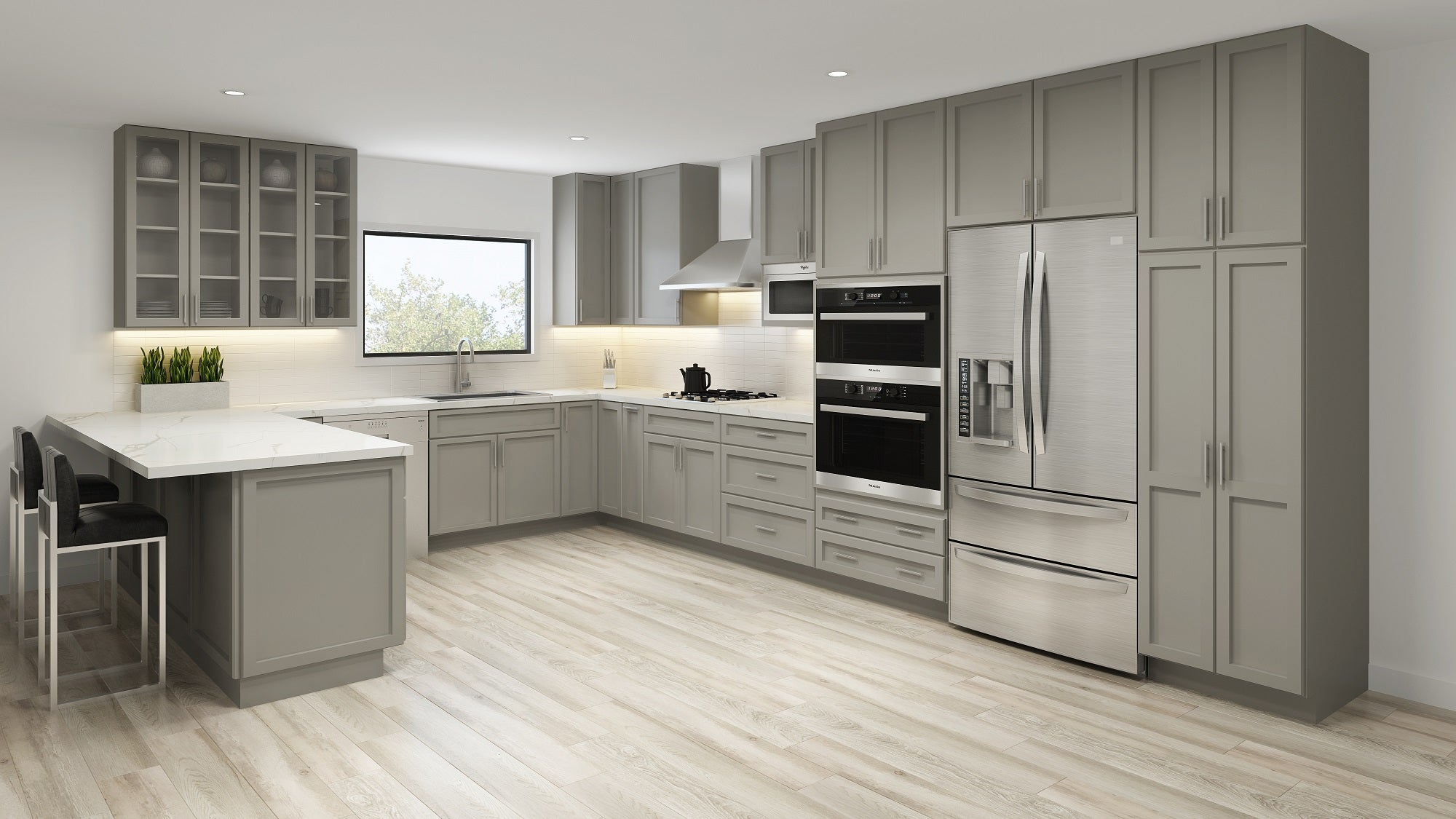 Shaker Pearl Grey Rta Kitchen Cabinets Cambridge Cabinetry