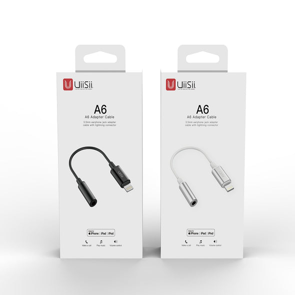 Uiisii A6 iPhone Lightning to 3.5mm Adapter Cable