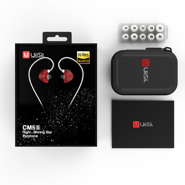 UiiSii CM5 Double Axis Graphene Wired In-ear Earphones