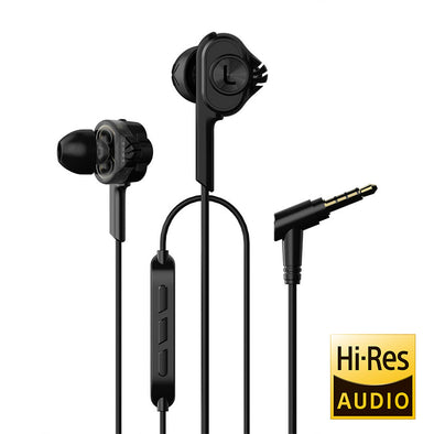 UiiSii BA-T6 Noise-isolating Black Earphones