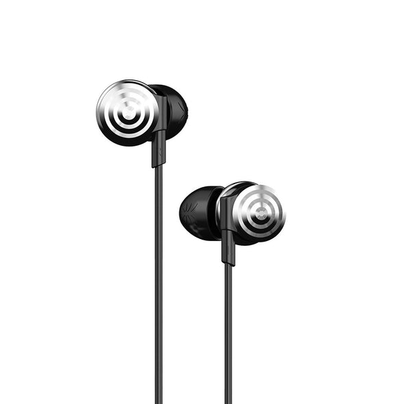 UiiSii Hi-905 cool stylish Silver earphones
