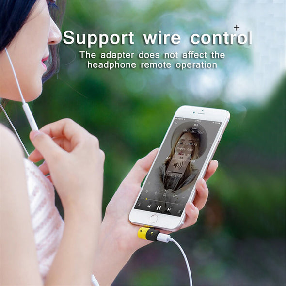 CF-04 For Apple Audio Charging Listening Calling Connector AUX Splitter-Uiisii