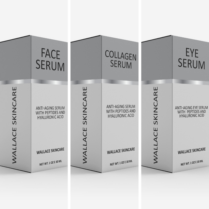 Anti-Aging 3 Serum Gift Set - Collagen, Face and Under Eye Serums