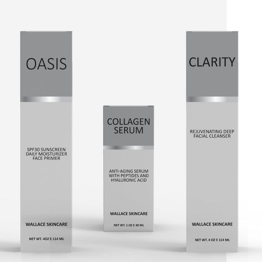 Bald Head Skin & Scalp Care Kit - Oasis, Clarity and Collagen Serum