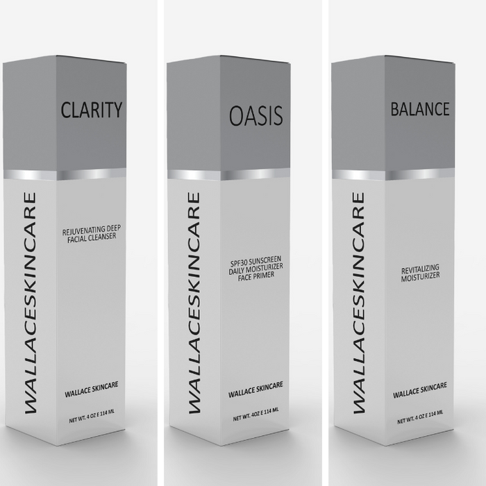 Daily Skincare Kit for Women - Clarity, Oasis and Balance