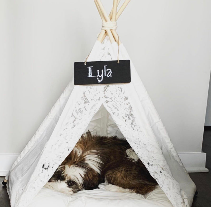Lily Lace Teepee | Bed Included - Playful Pooch Boutique - Online Dog Pet Store