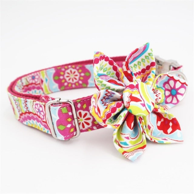 LUXE Electric Bloom Design - Playful Pooch Boutique - Online Dog Pet Store