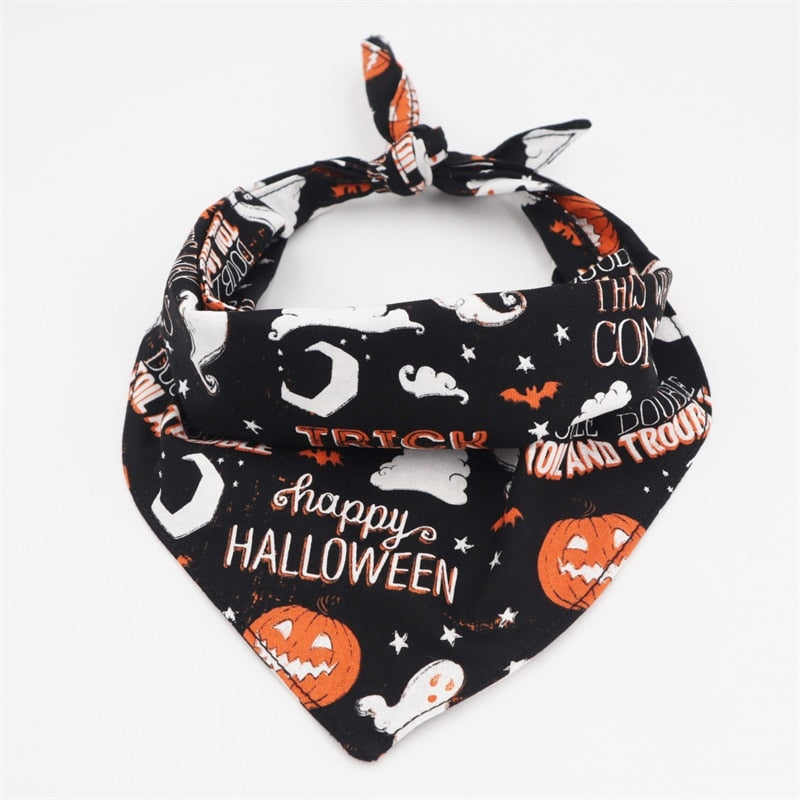 LUXE Happy Halloween Bandana - Playful Pooch Boutique - Online Dog Pet Store