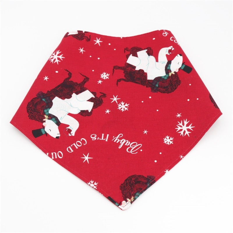 LUXE Bear-y Merry Christmas Bandana - Playful Pooch Boutique - Online Dog Pet Store
