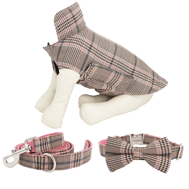 LUXE Clara Check Coat - Playful Pooch Boutique - Online Dog Pet Store