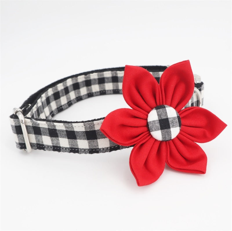 LUXE Floofy Valentine Floral Collar - Playful Pooch Boutique - Online Dog Pet Store