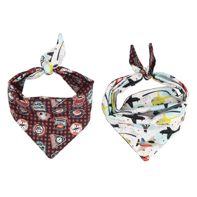 LUXE Adventure Awaits Reversible Bandana - Playful Pooch Boutique - Online Dog Pet Store