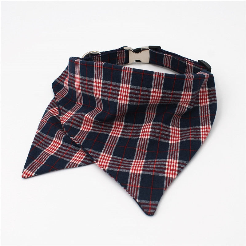 LUXE Paddy Plaid Bandana Collar - Playful Pooch Boutique - Online Dog Pet Store