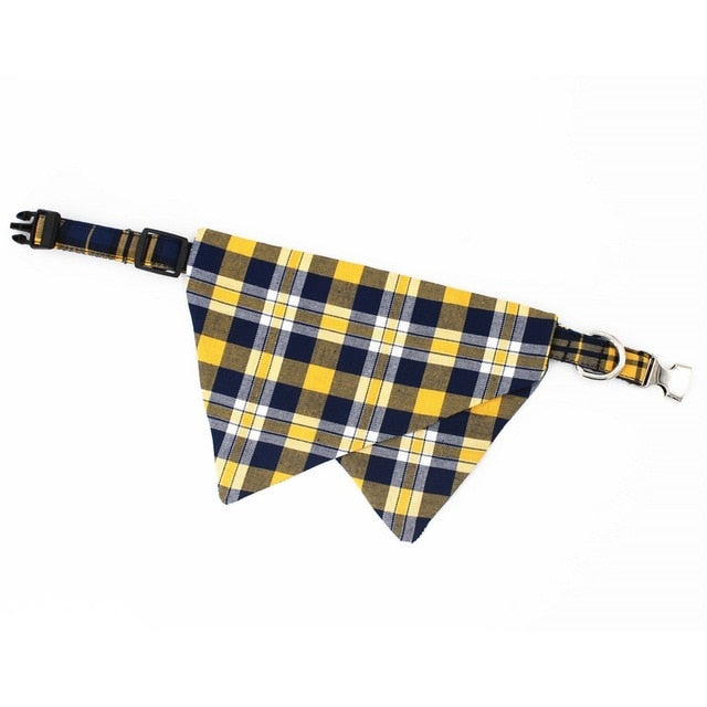 LUXE Pax Plaid Bandana Collar - Playful Pooch Boutique - Online Dog Pet Store
