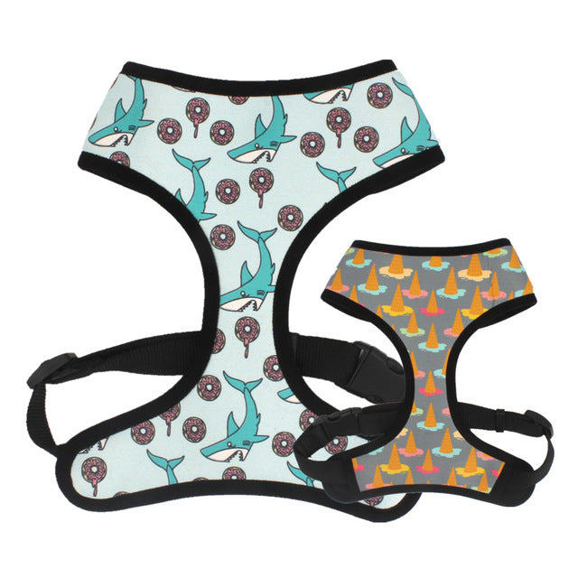 LUXE Silly Seaside Reversible Harness - Playful Pooch Boutique - Online Dog Pet Store
