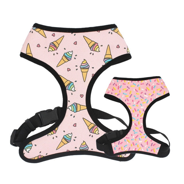 LUXE Sweet Treats Reversible Harness - Playful Pooch Boutique - Online Dog Pet Store