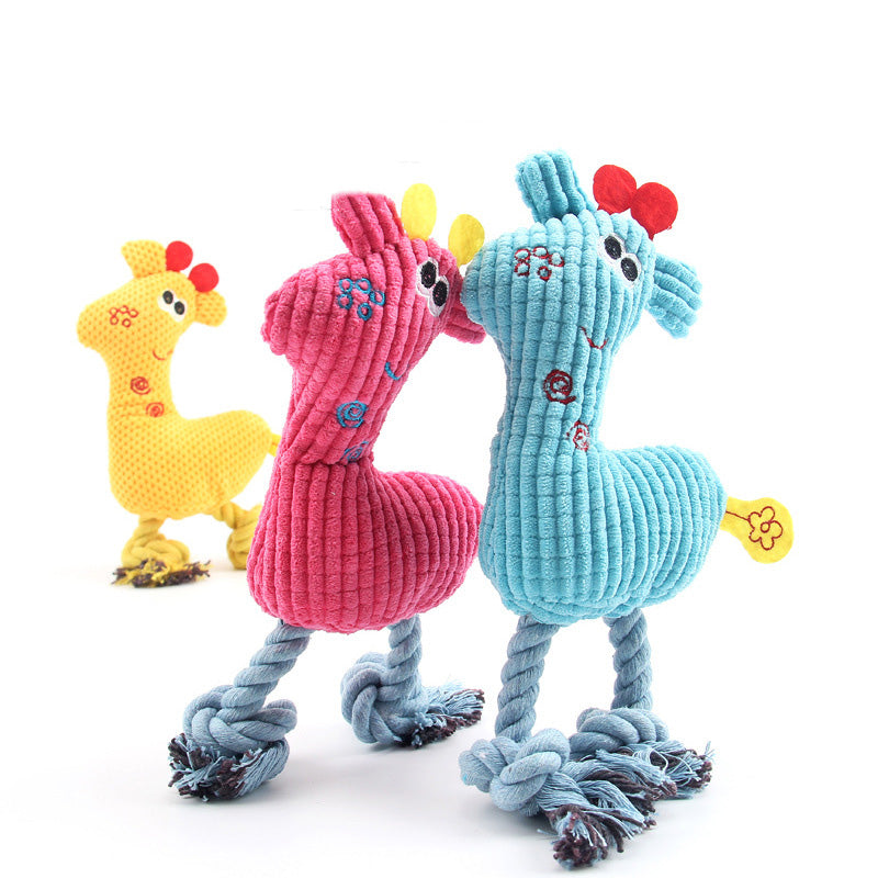 George Giraffe Plush Toy | 3 Colors - Playful Pooch Boutique - Online Dog Pet Store