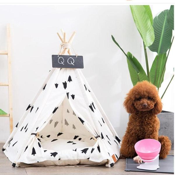 Wanderlust Teepee | Bed Included - Playful Pooch Boutique - Online Dog Pet Store