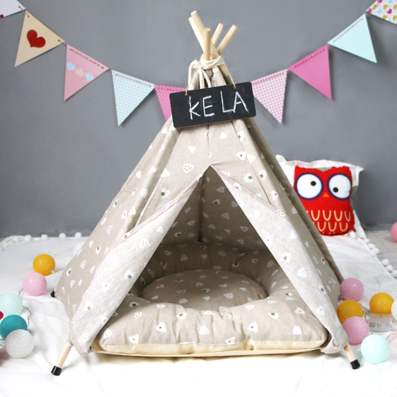 Dixie Dream Teepee | Tan - Playful Pooch Boutique - Online Dog Pet Store