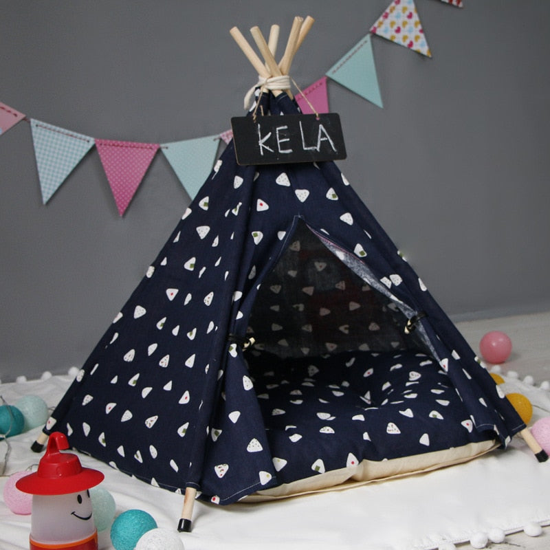 Dixie Dream Teepee | Navy - Playful Pooch Boutique - Online Dog Pet Store