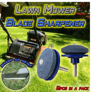 2 Pieces Lawn Blade Sharpener Any Power Drill