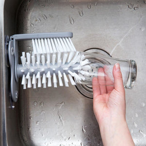 Suction Wall Lazy Cup Glass Clean Brush