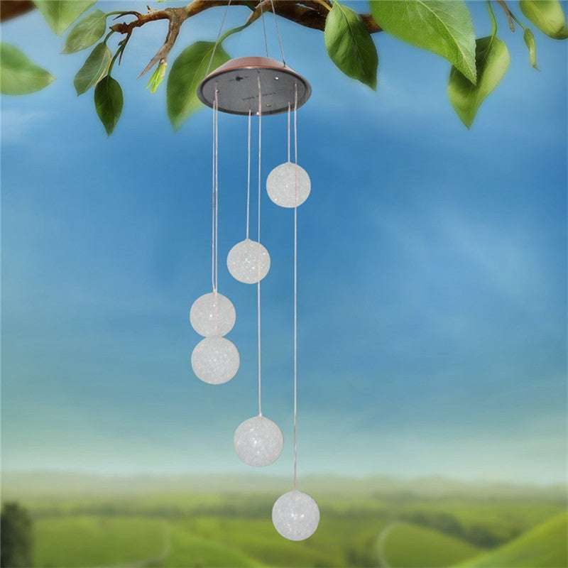 Waterproof Solar Powered LED Lamp Color Changing Wind Chimes
