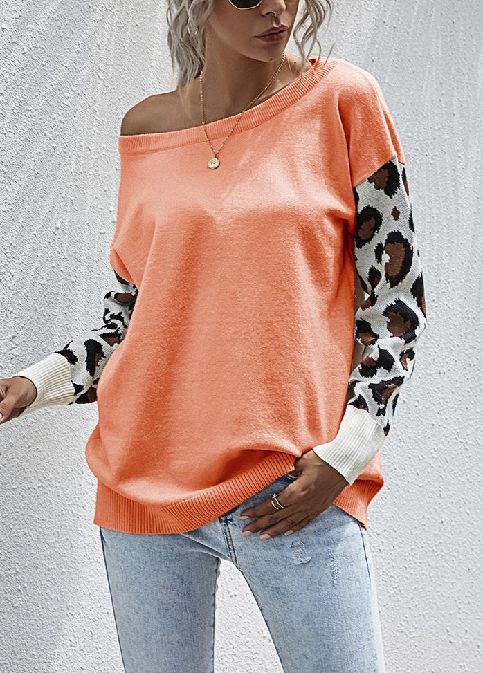 Round Neck Patchwork Casual Top