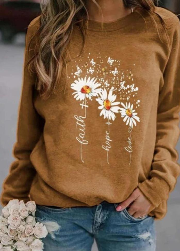 Casual Long Sleeve Printed Top