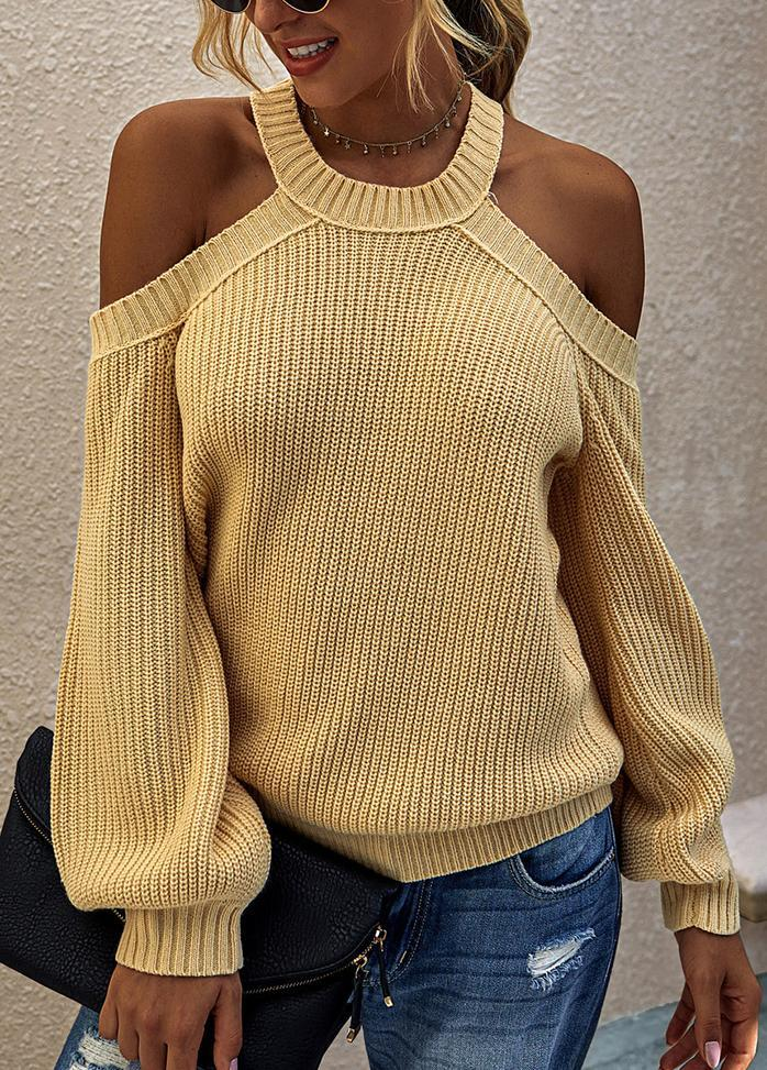 Solid Color Casual Round Neck Sweater