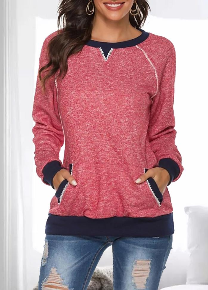 Long Sleeve Casual Patchwork T-shirt