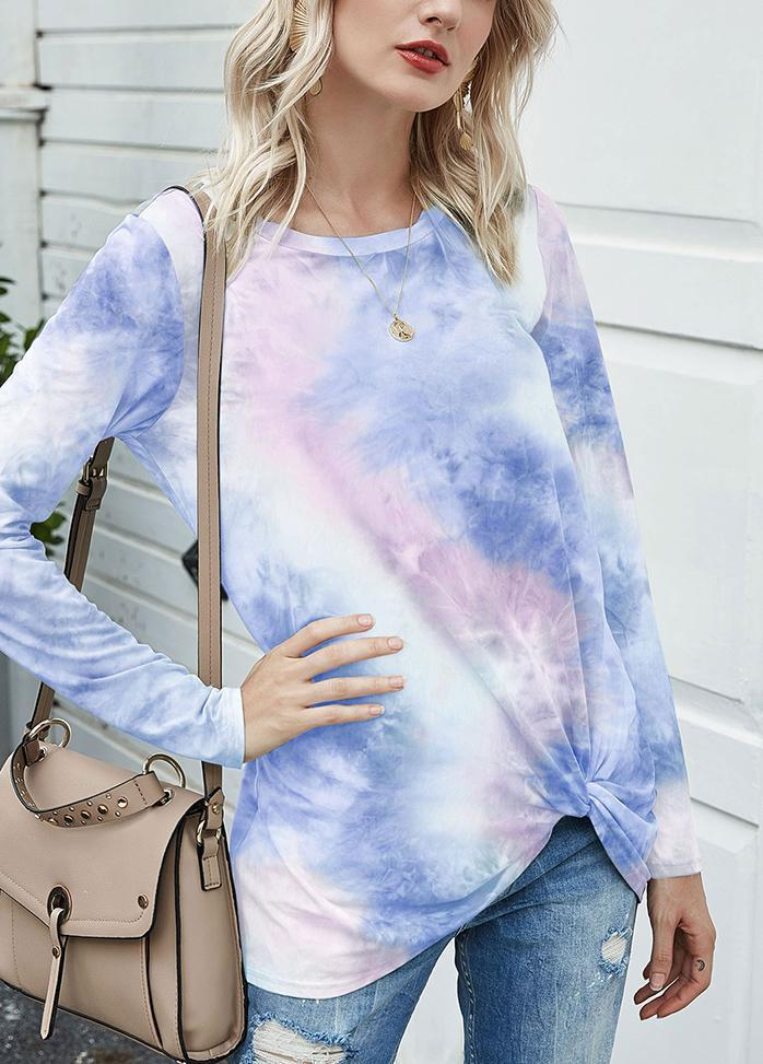 Long Sleeve Gradient Casual T-shirt
