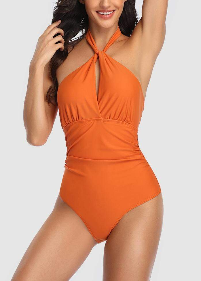 Keyhole Printed One Piece Swimwear