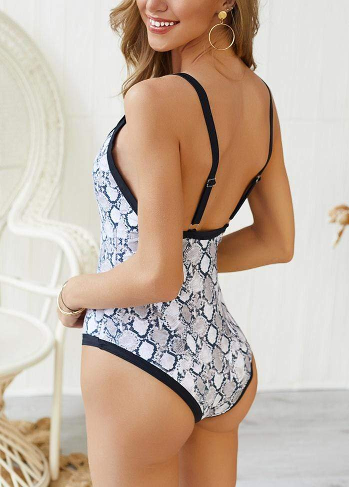 Leopard Printed One Piece Swimwear