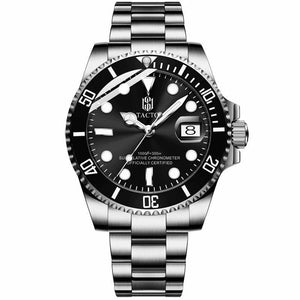 TACTO Brand Quartz Watch Men's Sport Watches Men Steel Business Clock Gmt Rolexable Watch Relogio Masculino 50m Waterproof