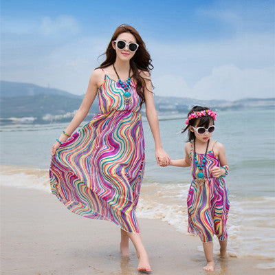 Matching Mommy and Me Summer Beach Vintage Dress