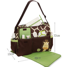 Super Cute Giraffe/Tiger/Zebra multi-pocketed Diaper Bag with Changing Pad