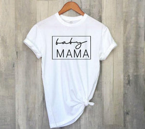 """Baby Mama"" Pregnancy T-Shirt Announcement Loungewear"