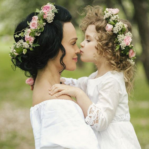 Lovely Mother & Daughter Bohemia Flower Crown