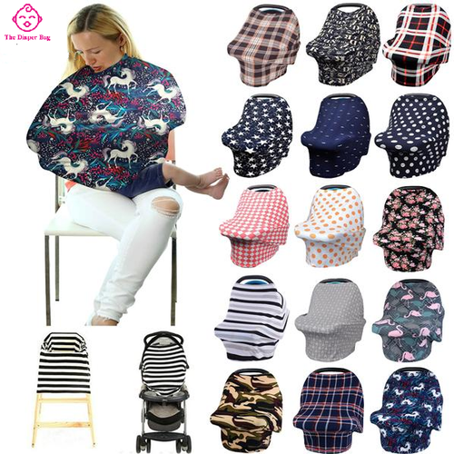 Multifunctional Fashionable Nursing Scarf (Car Seat & Shopping Cart Canopy)