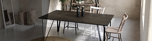 Ceramic tile table with black legs and italian tiles - Tiziana